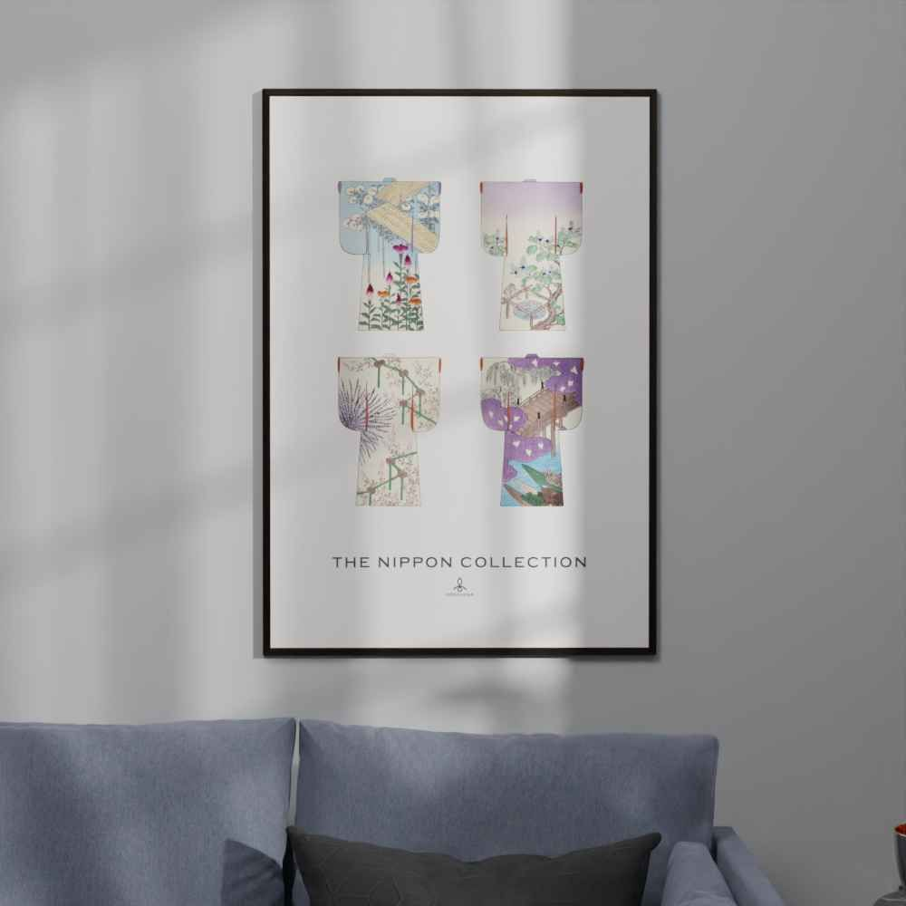 Plakat - The Nippon Collection 1 - Japanske kimono designs