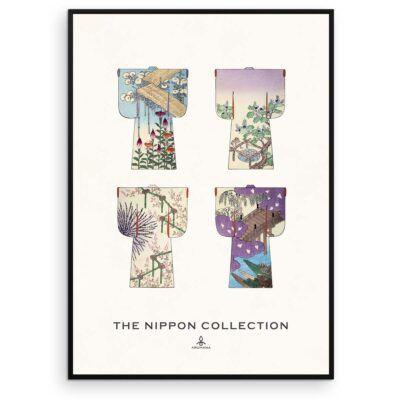 Plakat - The Nippon Collection 1 - Japanske kimono designs - Aruhana exclusive