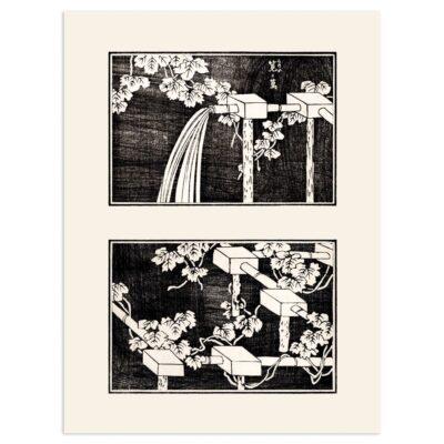 Plakat - Vanding af markerne - Japansk Træsnit 30x40cm