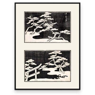Plakat - Fiskere på søen - Japansk Træsnit - Aruhana