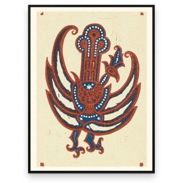 Plakat - Fabel-Fugl -Træsnit af Reijer Stolk - Aruhana