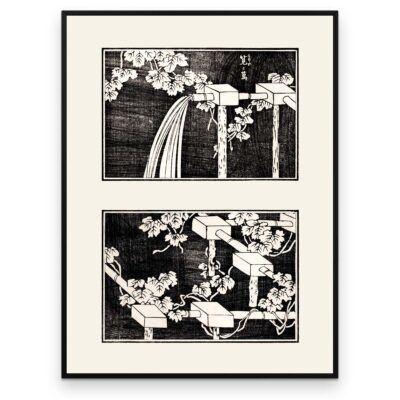 Plakat - Vanding af markerne - Japansk Træsnit - Aruhana