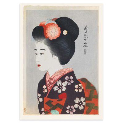 Plakat - Japansk træsnit - Maiko - Geisha-lærlingen 50x70cm