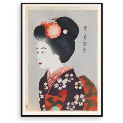Plakat - Japansk træsnit - Maiko - Geisha-lærlingen - Aruhana