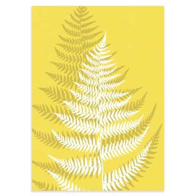 Plakat - Fjerbregne - Illuminating Yellow 50x70cm