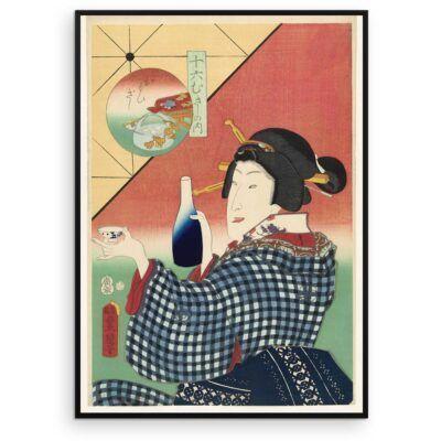 Plakat - Japansk træsnit - Cheers to me - Aruhana