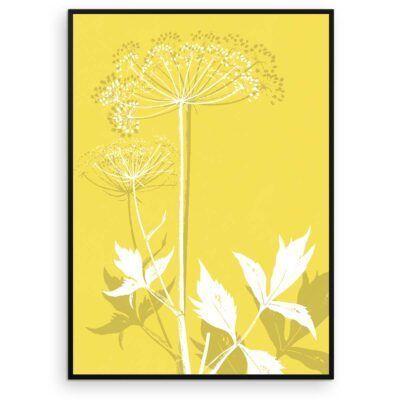 Plakat - Kvan - Illuminating Yellow - Aruhana