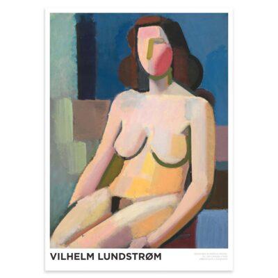 Plakat - Vilhelm Lundstrøm - Siddende kvindelig model 50x70cm