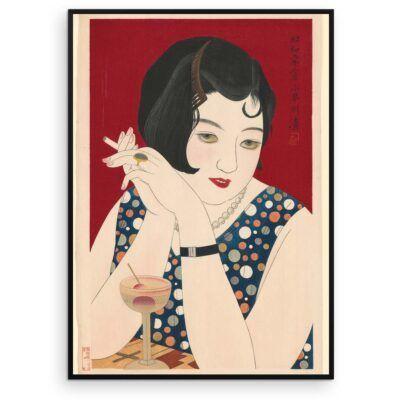 Plakat - Japansk træsnit - Tipsy - Aruhana