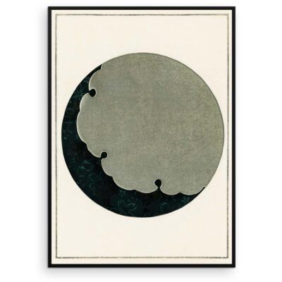 Japandi Plakat - Måne - Japansk træsnit af Watanabe Seitei - Aruhana