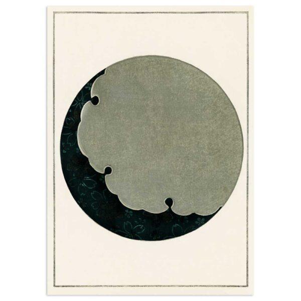 Plakat - Måne - Japansk træsnit af Watanabe Seitei 50x70cm