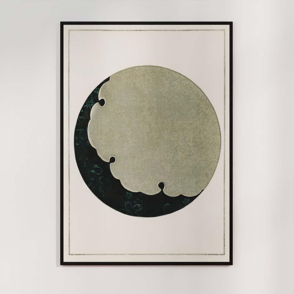 Plakat - Måne - Japansk træsnit af Watanabe Seitei