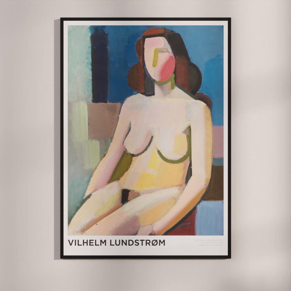 Plakat - Vilhelm Lundstrøm - Siddende kvindelig model