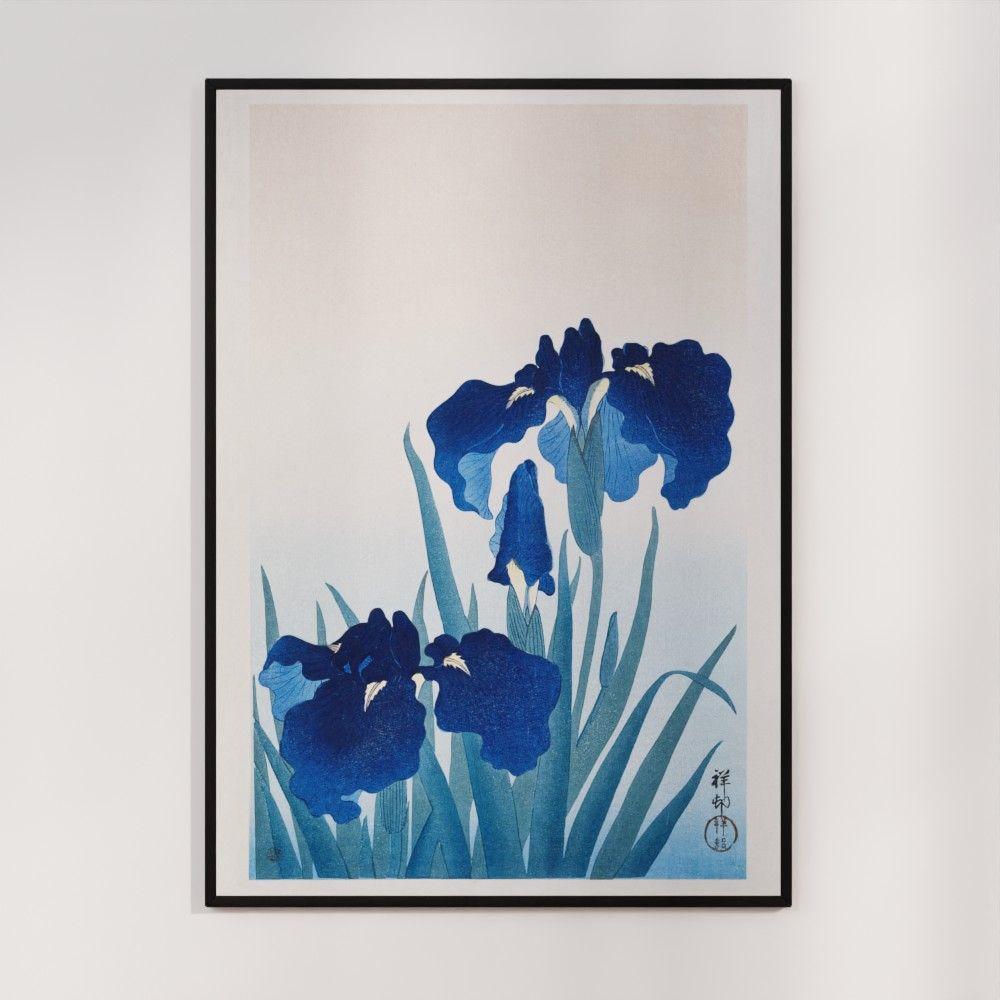 Plakat - Iris i blomst - Ohara Koson Japansk Træsnit
