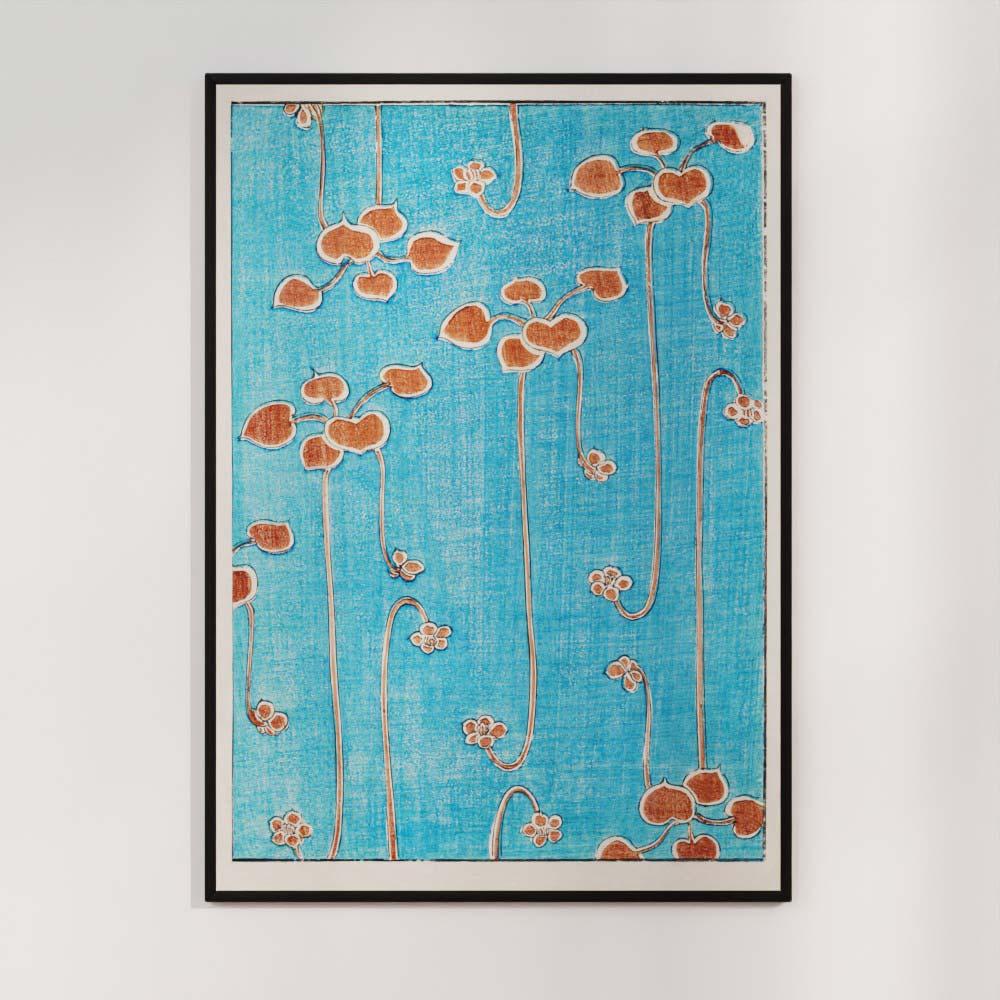 Plakat - Klatreplanter - Japansk træsnit af Watanabe Seitei