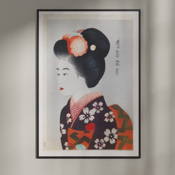 Plakat - Japansk træsnit - Maiko - Geisha-lærlingen