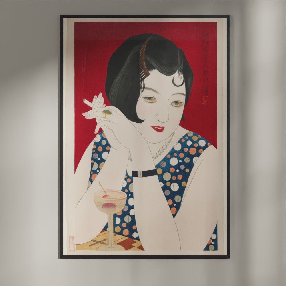 Plakat - Japansk træsnit - Tipsy