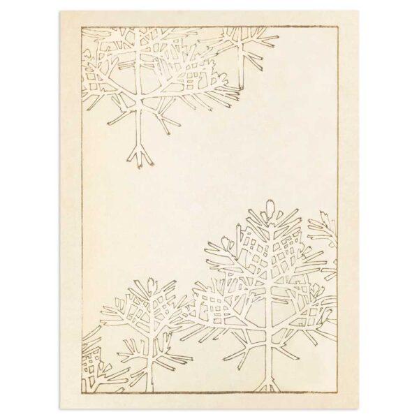 Plakat - Vintertræer - Japansk Træsnit 30x40cm