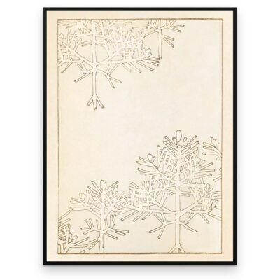 Plakat - Vintertræer - Japansk Træsnit - Aruhana