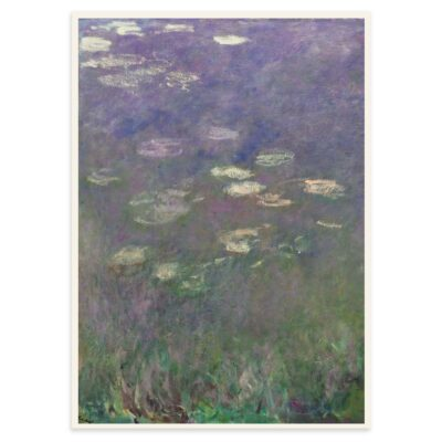 Plakat - Åkanderne af Claude Monet - 1 - 50x70cm