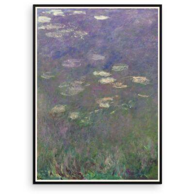 Plakat - Åkanderne af Claude Monet - 1 - Aruhana
