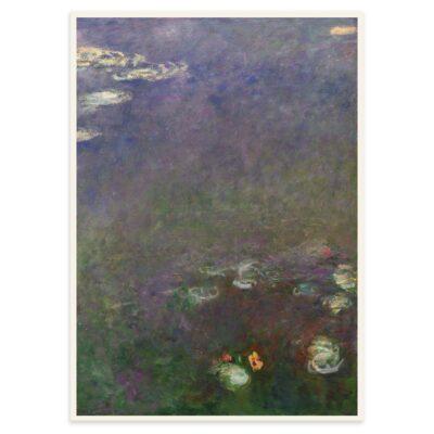 Plakat - Åkanderne af Claude Monet - 3 - 50x70cm