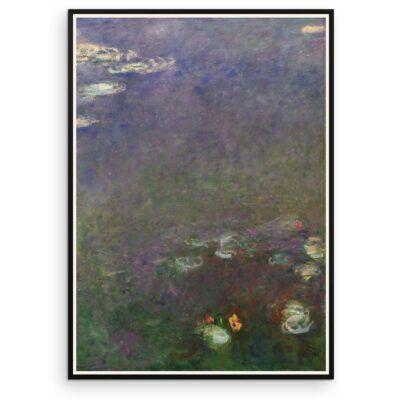 Plakat - Åkanderne af Claude Monet - 3 - Aruhana