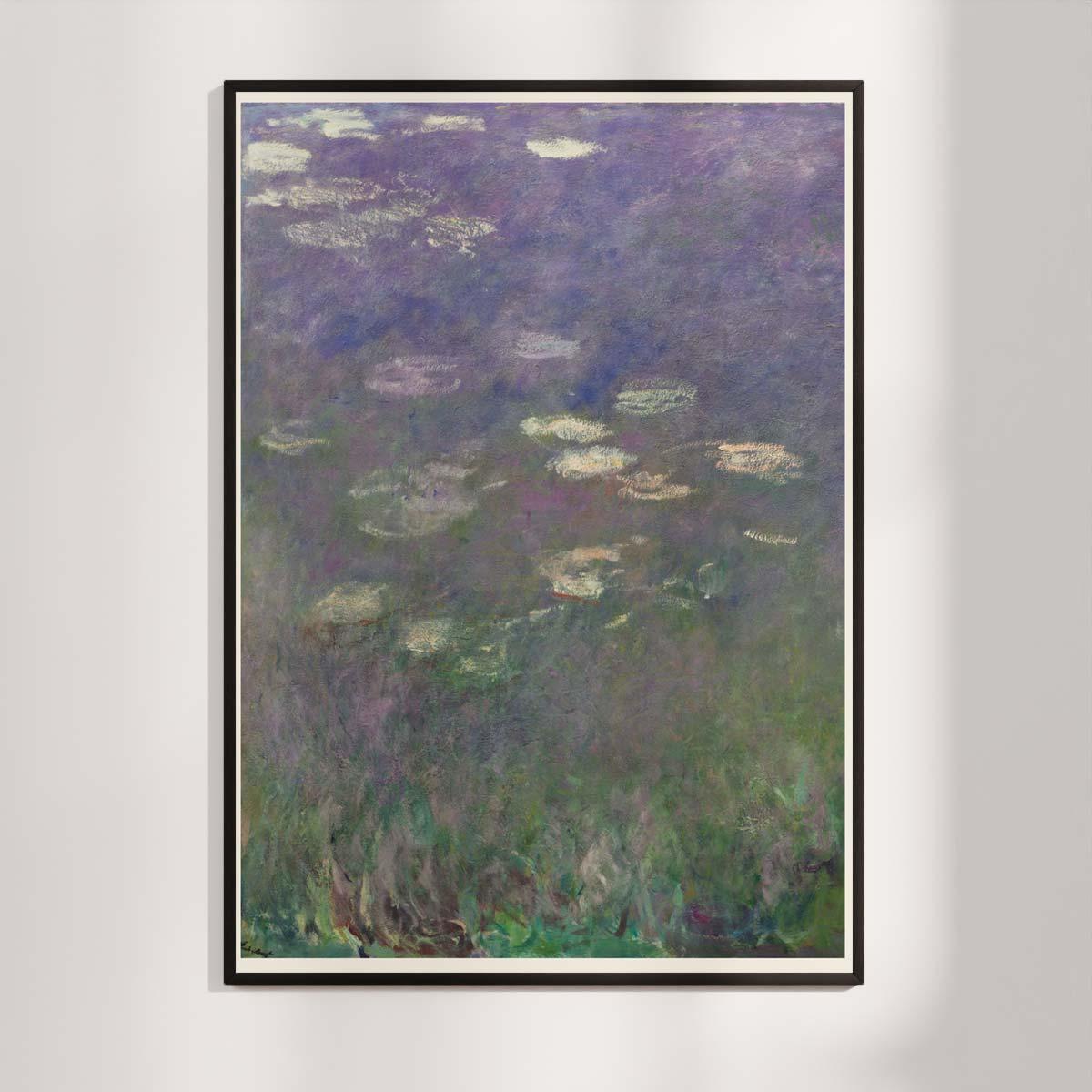 Plakat - Åkanderne af Claude Monet - 1