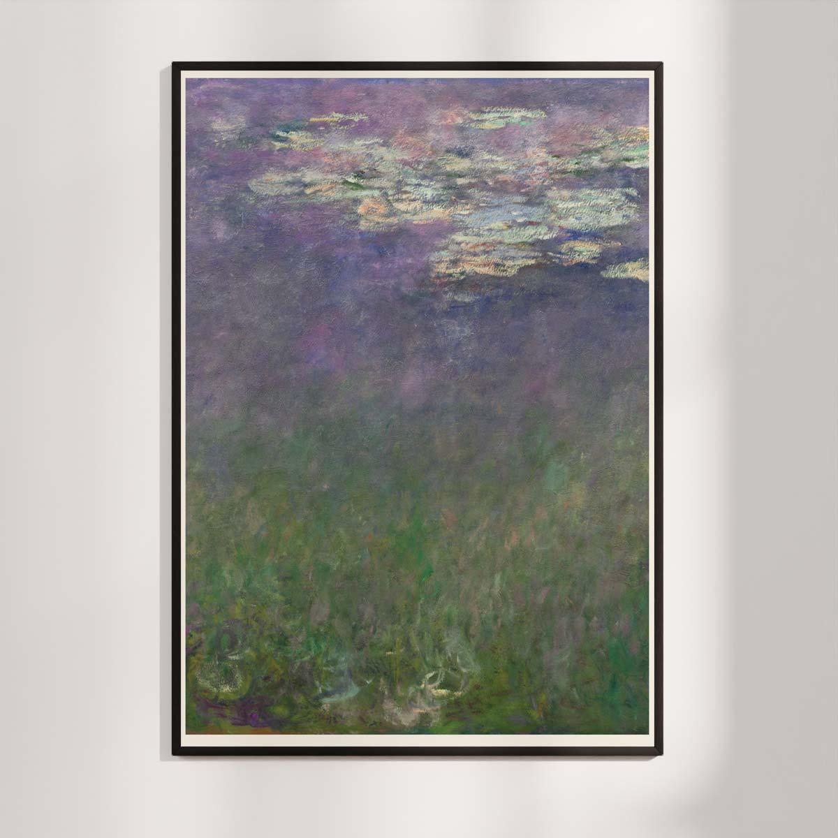 Plakat - Åkanderne af Claude Monet - 2