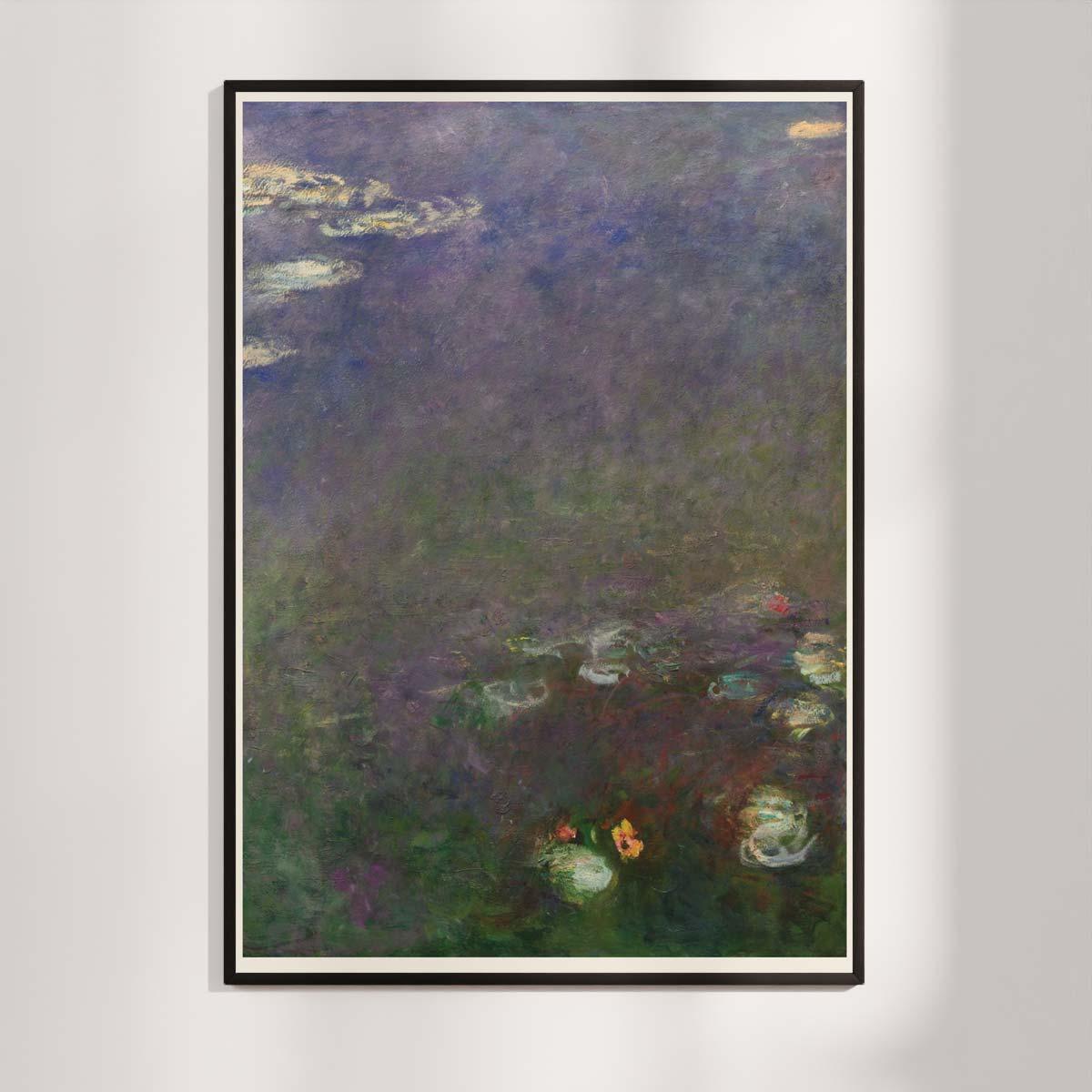 Plakat - Åkanderne af Claude Monet - 3
