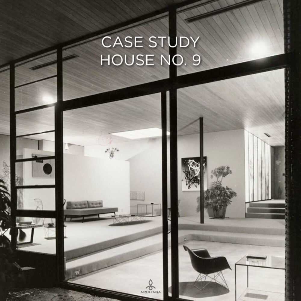 Case Study House No. 9 af Eames og Saarinen, 1950 © J. Paul Getty Trust. Getty Research Institute, Los Angeles (2004.R.10)