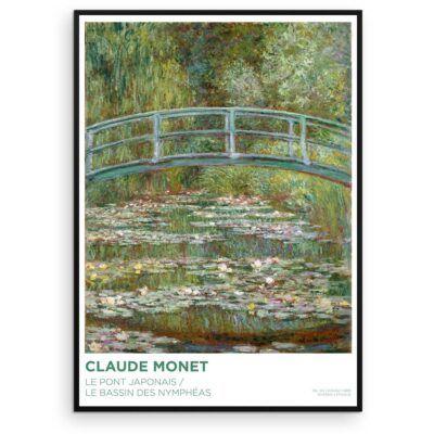 Claude Monet - Den japanske bro over dammen med åkander - Aruhana