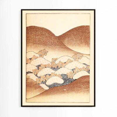 Bløde bakker - Watanabe Seitei plakat fra Shin Bijutsukai - Aruhana