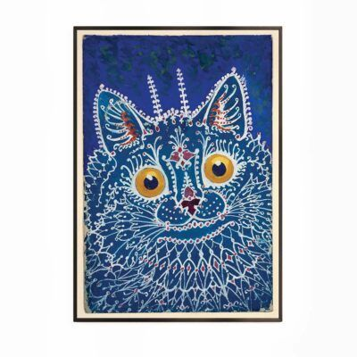 Kat i gotisk stil - Louis Wain plakat Aruhana