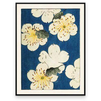 Blomster og blåt - Shin Bijutsukai plakat - Aruhana