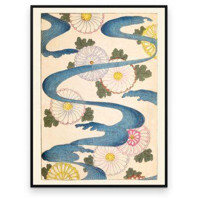 Krysantemum floden - Shin Bijutsukai plakat - Aruhana