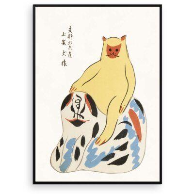 God hund - Japanese folk toy plakat - Aruhana